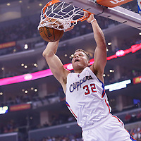 16 November 2013: Los Angeles Clippers power forward Blake Griffin (32) dunks the ball during the Los Angeles Clippers 110-103 victory over the Brooklyn Nets at the Staples Center, Los Angeles, California, USA.