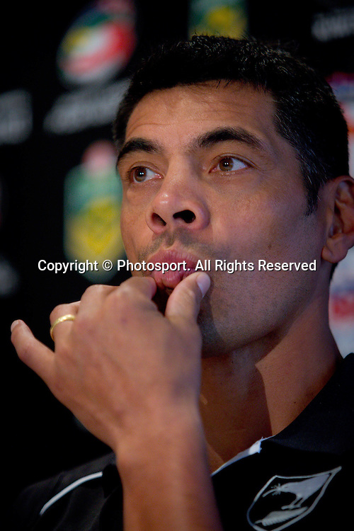 New Zealand coach Stephen Kearney during a preview 4 Nations press conference, Brisbane Australia on October 24, 2014.