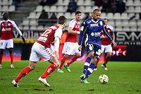 Aldo ANGOULA  - 13.12.2014 - Reims / Evian Thonon  - 18eme journee de Ligue1<br />Photo : Fred Porcu / Icon Sport