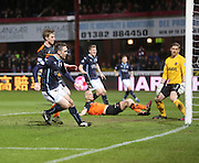 Paul Heffernan scores Dundee's third - Dundee v Dundee United - SPFL Premiership at Dens Park<br /> <br />  - &copy; David Young - www.davidyoungphoto.co.uk - email: davidyoungphoto@gmail.com