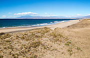 Sandy beach Cabo de Gata, La Almadraba de Monteleva, Nijar, Almeria, Spain