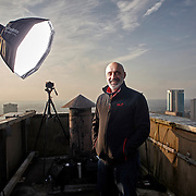 Steve Feeney of Essential Marketer Portrait on the roof at 103 Colmore Row