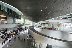 Interior of BMW Welt or BMW World in Munich Germany