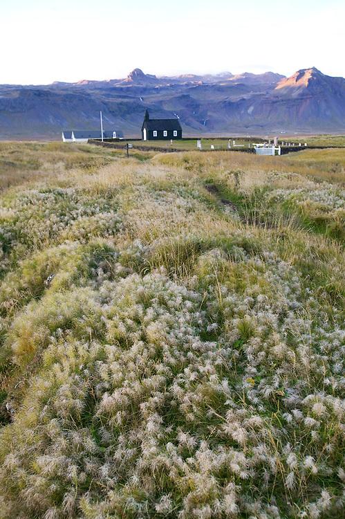 Church at Budir, Iceland (adjacent to Budahraun Nature Preserve).
