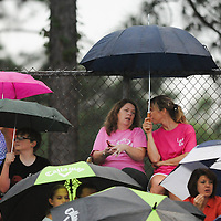 Pender High School traveled to Laney High School on the opening night of football season Friday August 22, 2014. The game was delayed due to lightning before kickoff. (Jason A. Frizzelle)