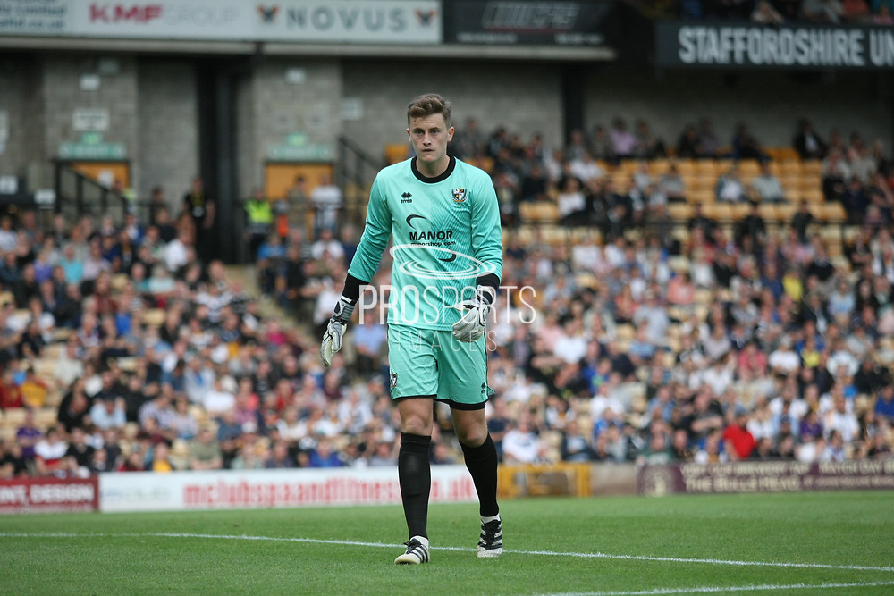 Port Vale goalkeeper Sam Hornby during the Pre-Season Friendly match between Port Vale and Derby County at Vale Park, Burslem, England on 18 July 2017. Photo by John Potts.