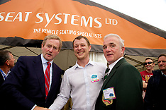 Taoiseach Enda Kenny at Seat Systems Stand at The National Ploughing Championships 2014.