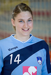 Portrait of Tamara Mavsar of Slovenian Handball Women National Team, on June 3, 2009, in Arena Kodeljevo, Ljubljana, Slovenia. (Photo by Vid Ponikvar / Sportida)