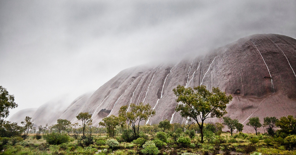 Uluru rain,- In November 2010 Uluru/KataTjuta NP received its anuual rainfall in a 48 hour period.