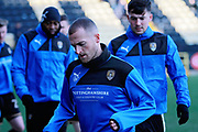 Notts County's Lewis Alessandra(7) warming up before the EFL Sky Bet League 2 match between Notts County and Stevenage at Meadow Lane, Nottingham, England on 24 February 2018. Picture by Nigel Cole.