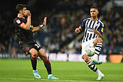West Bromwich Albion defender Kieran Gibbs (3) looks to cross during the EFL Sky Bet Championship match between West Bromwich Albion and Reading at The Hawthorns, West Bromwich, England on 21 August 2019.