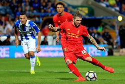 Alberto Moreno of Liverpool scores his sides second goal  from the penalty spot - Mandatory by-line: Matt McNulty/JMP - 20/07/2016 - FOOTBALL - John Smith's Stadium - Huddersfield, England - Huddersfield Town v Liverpool - Pre-season friendly