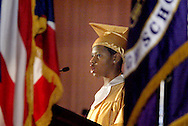 Salutatorian Ashley Cooper during the Thurgood Marshall High School commencement at the Dayton Masonic Center, Tuesday, May 24, 2011.