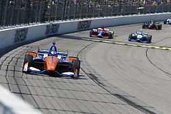 July 8, 2018 - Newton, Iowa, United States of America - SCOTT DIXON (9) of New Zealand battles for position during the Iowa Corn 300 at Iowa Speedway in Newton, Iowa. (Credit Image: © Justin R. Noe Asp Inc/ASP via ZUMA Wire)