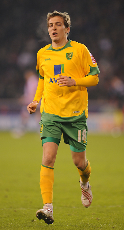 Sheffield - Saturday January 9th, 2009: Arturo Lupoli of Norwich City during the Coca Cola Championship match at Bramall Lane, Sheffield. (Pic by Alex Broadway/Focus Images)