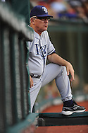 Tampa Bay Rays manage Joe Maddon watches his team lose for the sixth straight time July 12, 2008 in Cleveland. The Rays lost their last seven games before the all-star break..