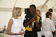 HENRY OLONGA, Guy Leymarie and Tara Getty host The De Beers Cricket Match. The Lashings Team versus the Old English team. Wormsley. ONE TIME USE ONLY - DO NOT ARCHIVE  © Copyright Photograph by Dafydd Jones 66 Stockwell Park Rd. London SW9 0DA Tel 020 7733 0108 www.dafjones.com