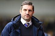 Shrewsbury Town manager Sam Ricketts  during the EFL Sky Bet League 1 match between Oxford United and Shrewsbury Town at the Kassam Stadium, Oxford, England on 7 December 2019.