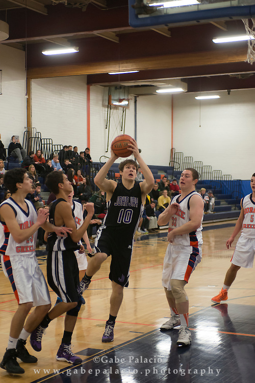 John Jay Varsity Basketball game at Horace Greeley High School on January 13, 2015. (photo by Gabe Palacio)