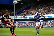Queens Park Rangers defender Joel Lynch (6) headers clear during the EFL Sky Bet Championship match between Queens Park Rangers and Nottingham Forest at the Loftus Road Stadium, London, England on 29 April 2017. Photo by Andy Walter.