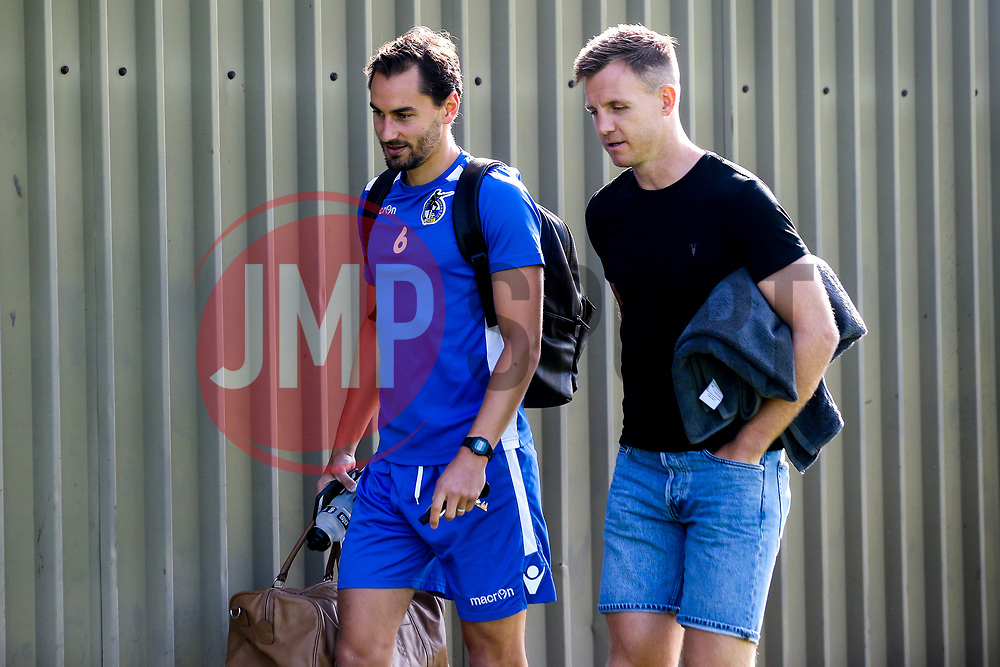 Edward Upson of Bristol Rovers and Tony Craig of Bristol Rovers arrive for the first day of preseason training ahead of the 2019/20 Sky Bet League One Season - Mandatory by-line: Robbie Stephenson/JMP - 27/06/2019 - FOOTBALL - The Lawns - Bristol, England - Bristol Rovers Return for Preseason Training