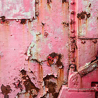 Rusty Metal and Peeling Paint Detail at North Carr Lightship City Quay in Dundee Scotland