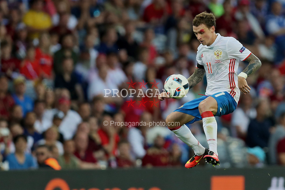 TOULOUSE, FRANCE - Monday, June 20, 2016: Russia's Pavel Mamaev in action against Wales during the final Group B UEFA Euro 2016 Championship match at Stadium de Toulouse. (Pic by David Rawcliffe/Propaganda)