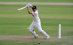 Sussex's Luke Wells cuts the ball. - Photo mandatory by-line: Harry Trump/JMP - Mobile: 07966 386802 - 05/07/15 - SPORT - CRICKET - LVCC - County Championship Division One - Somerset v Sussex- The County Ground, Taunton, England.