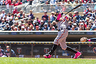 Manny Machado #13 of the Baltimore Orioles bats against the Minnesota Twins on May 12, 2013 at Target Field in Minneapolis, Minnesota.  The Orioles defeated the Twins 6 to 0.  Photo: Ben Krause