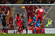 Gianvito Plasmati of Leyton Orient (30) scores the opening goal against Crewe Alexandra during the Sky Bet League 1 match at the Matchroom Stadium, London<br /> Picture by David Horn/Focus Images Ltd +44 7545 970036<br /> 22/11/2014