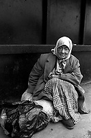 Begging on the streets near railway station.<br />
