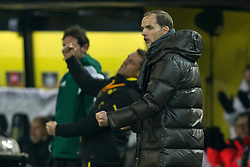 18.02.2016, Signal-Iduna-Stadion, Dortmund, GER, UEFA EL, Borussia Dortmund vs FC Porto, Sechzehntelfinale, Hinspiel, im Bild Trainer Thomas Tuchel (Borussia Dortmund) beim Torjubel nach dem Treffer zum 2:0 // during the UEFA Europa League Round of 32, 1st Leg match between Borussia Dortmund and FC Porto at the Signal-Iduna-Stadion in Dortmund, Germany on 2016/02/18. EXPA Pictures © 2016, PhotoCredit: EXPA/ Eibner-Pressefoto/ Schueler<br /> <br /> *****ATTENTION - OUT of GER*****