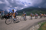 The Discovery Team lead Lance Armstrong up the Col du Telegraph on Wednesday 13th July 2005.