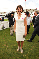 KATE SILVERTON at the Cartier International Polo at Guards Polo Club, Windsor Great Park, Berkshire on 25th July 2010.