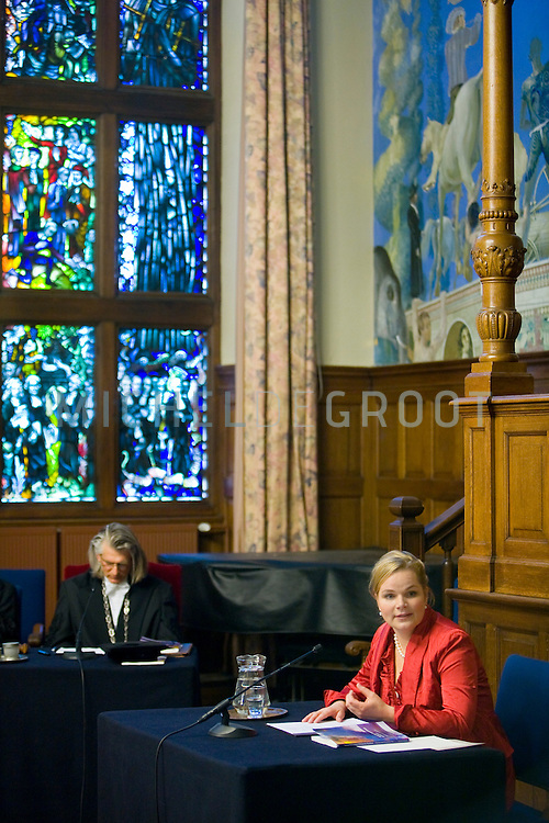 Promotie van psychologe Stynke Castelein de RuG. Nuclear physics institute in Groningen, Austria op 11 March, 2009. (Photo by Michel de Groot)