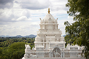 PUTTARPATHI, INDIA - 27th October 2019 - Hindu temple architecture in village surrounding Puttarpathi, Andhra Pradesh, South India
