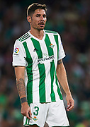 SEVILLE, SPAIN - SEPTEMBER 25:  Javi Garcia of Real Betis Balompie looks on during the La Liga match between Real Betis and Levante at Estadio Benito Villamarin on September 25, 2017 in Seville, .  (Photo by Aitor Alcalde Colomer/Getty Images)
