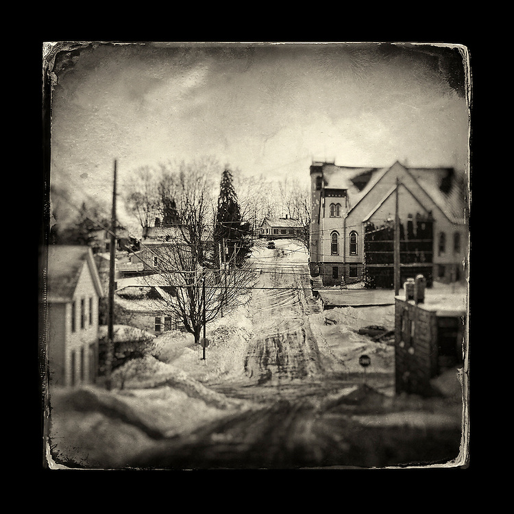 "Charles Blackburn Instagram image of Winter Scene in Mineral Point, WI. 5x5"" print."