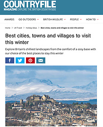 Countryfile Magazine; Stirling Castle in winter.