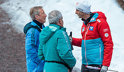 02.03.2017, Lahti, FIN, FIS Weltmeisterschaften Ski Nordisch, Lahti 2017, Herren Skisprung, Grossschanze HS130m, im Bild FIS Renndirektor Walter Hofer, FIS Equipment Control Sepp Gratzer und Heinz Kuttin (AUT, Chef Trainer Skisprung Herren) // FIS Racedirector Walter Hofer, FIS Equipment Control Sepp Gratzer Skijumping Headcoach Heinz Kuttin of Austria duringMens Skijumping HS 130 m of FIS Nordic Ski World Championships 2017. Lahti, Finland on 2017/03/02. EXPA Pictures © 2017, PhotoCredit: EXPA/ JFK