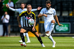 Joe Ledley of Derby County takes on Lewis Alessandra of Notts County - Mandatory by-line: Robbie Stephenson/JMP - 14/07/2018 - FOOTBALL - Meadow Lane - Nottingham, England - Notts County v Derby County - Pre-season friendly