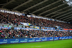 A general view of Liberty Stadium, home of Ospreys stands full<br /> <br /> Photographer Simon King/Replay Images<br /> <br /> Guinness PRO14 Round 11 - Ospreys v Scarlets - Saturday 22nd December 2018 - Liberty Stadium - Swansea<br /> <br /> World Copyright © Replay Images . All rights reserved. info@replayimages.co.uk - http://replayimages.co.uk