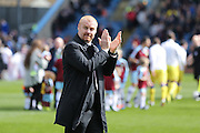 Burnley Manager Sean Dyche  applauding the fans during the Sky Bet Championship match between Burnley and Leeds United at Turf Moor, Burnley, England on 9 April 2016. Photo by Simon Davies.