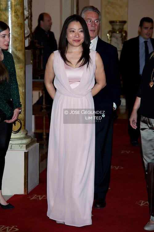 Mine Kawakami attends the presentation of Barbara Hendricks' Memories, 'In Own Voice (En propia voz)' at Casino de Madrid on May 23, 2013 in Madrid