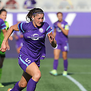 Orlando Pride defender Laura Alleway (5) is seen during a NWSL soccer match at Camping World Stadium on May 8, 2016 in Orlando, Florida. (Alex Menendez via AP)