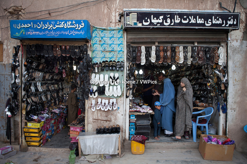 shoeshop in herat, Afghanistan