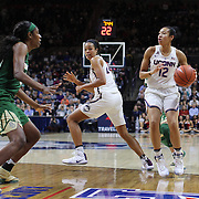 STORRS, CONNECTICUT- NOVEMBER 17: Saniya Chong #12 of the UConn Huskies in action during the UConn Huskies Vs Baylor Bears NCAA Women's Basketball game at Gampel Pavilion, on November 17th, 2016 in Storrs, Connecticut. (Photo by Tim Clayton/Corbis via Getty Images)