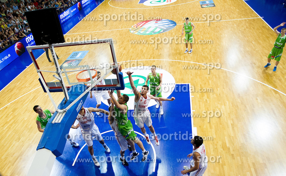 Gezim Morina of Slovenia during basketball match between National teams of Turkey and Slovenia in Qualifying Round of U20 Men European Championship Slovenia 2012, on July 17, 2012 in Domzale, Slovenia. Slovenia defeated Turkey 72-71 in last second of the game. (Photo by Vid Ponikvar / Sportida.com)