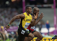 Athletics - 2017 IAAF London World Athletics Championships - Day One<br /> <br /> Event: Men's 100 Metres Qualifying <br /> <br /> Yohan Blake (JAM)  <br /> <br /> <br /> COLORSPORT/DANIEL BEARHAM