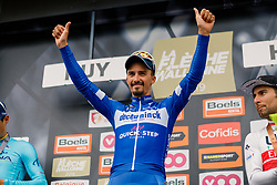 Julian Alaphilippe (FRA) of Deceuninck - Quick Step (BEL,WT,Specialized) wins La Flèche Wallonne (1.UWT) with 195 km racing from Ans to Mur de Huy, Belgium. 24th April 2019. 2019 La Fleche Wallonne, Belgium, 24 April 2019, Photo by Thomas van Bracht / PelotonPhotos.com